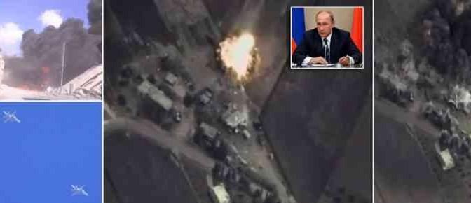 Aviazione russa colpisce 'ribelli islamici' finanziati da Usa e Ue – VIDEO ATTACCO