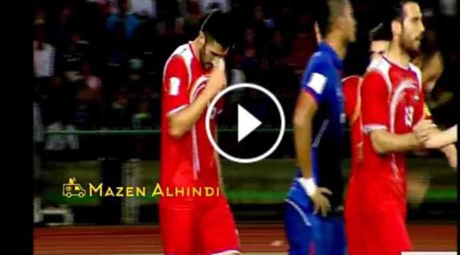 Siria: segna, giocatore cristiano fa segno croce – VIDEO