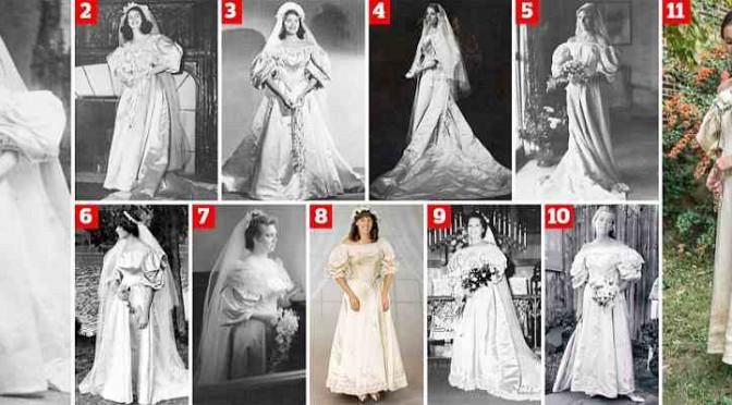 Tradizioni di famiglia: lo stesso abito da sposa dal 1895