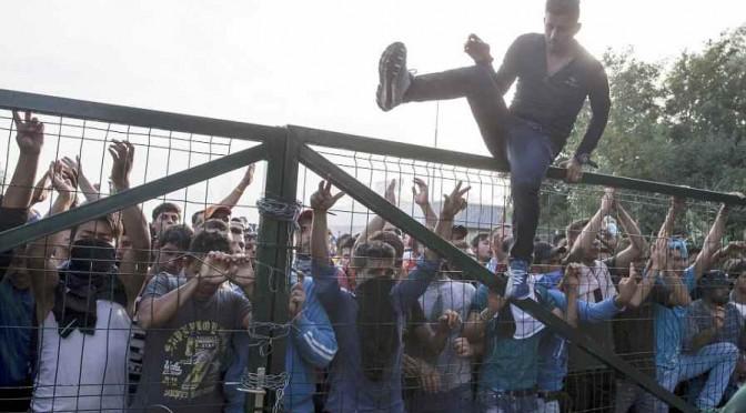 Profughi assaltano agenti sloveni al grido Allah Akbar! – VIDEO