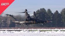 Convertiplano esplode in volo: pilota muore ed evita strage