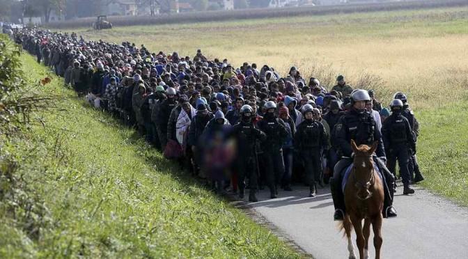 Stanno arrivando: la marcia degli islamici in Slovenia – FOTO