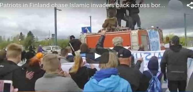 Patrioti finlandesi respingono 'profughi' oltre confine – VIDEO