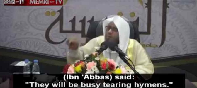 """Imam: """"In paradiso passeremo il tempo a sfondare vergini"""" – VIDEO"""