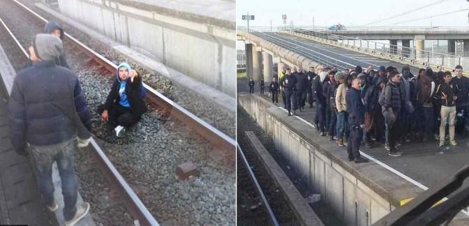 Profughi bloccano treni: esigono 'passaggio' – FOTO