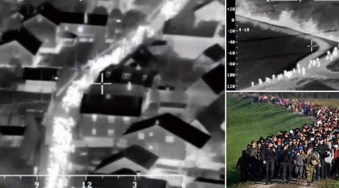 L'invasione vien di notte: immagini aeree dell'orda islamica