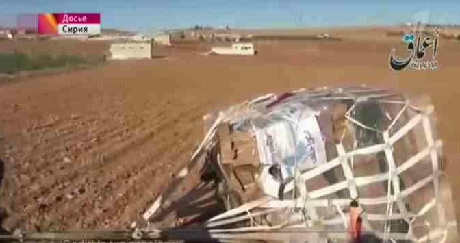 TV russa mostra armi paracadutate da Usa a ISIS
