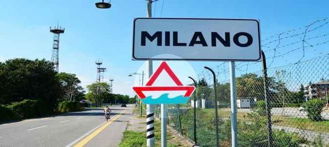 Presunto artista trasforma segnali stradali in barconi