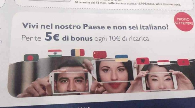 Tariffe riservate a Immigrati: Italiani discriminati dai gestori telefonici