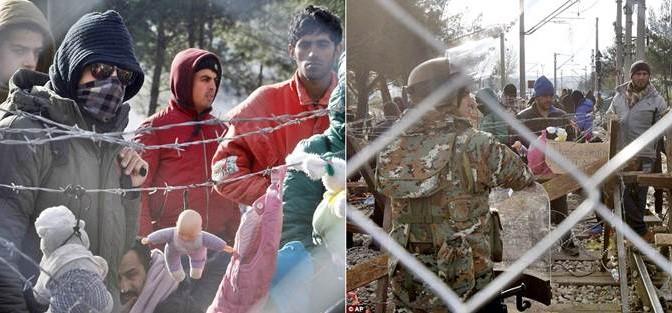 Ecco i 'profughi bambini' che appendono bambole al filo spinato – FOTO