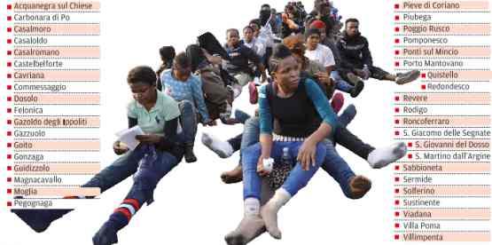Mantova: Renzi invia altri 300 africani in hotel, ecco dove