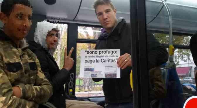 Protesta a Trieste contro bus gratis per profughi