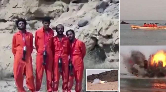 ISIS giustizia 25 prigionieri: polverizzati, fatti esplodere su barca, sgozzati – 4 VIDEO DIVERSI