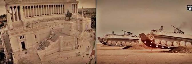 ISIS minaccia Roma: in video blindati islamici verso Altare Patria e Colosseo