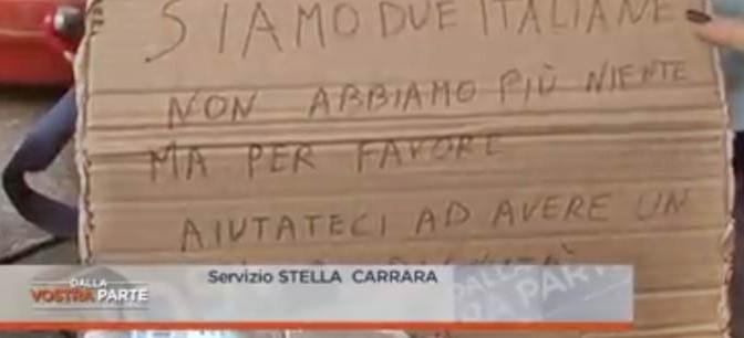 """Milano: """"Siamo italiane e dormiamo sulle panchine"""""""