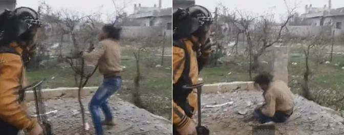 Terrorista islamico moderato perde la testa – VIDEO