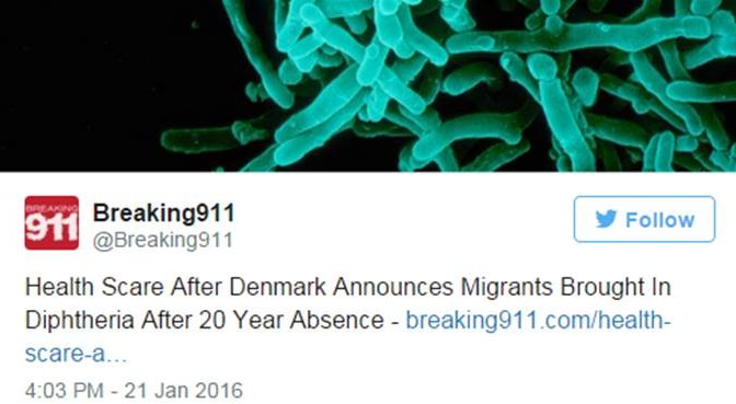 """Danimarca lancia allarme difterite: """"Profughi infetti"""""""
