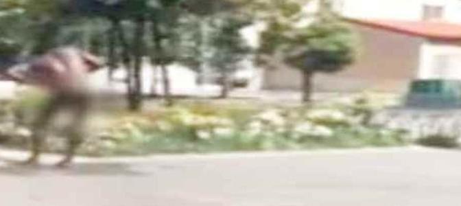Ex profugo protesta nudo in strada