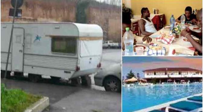 """Famiglia italiana senza casa rifiutata da hotel profughi: """"Voi dovete pagare"""""""