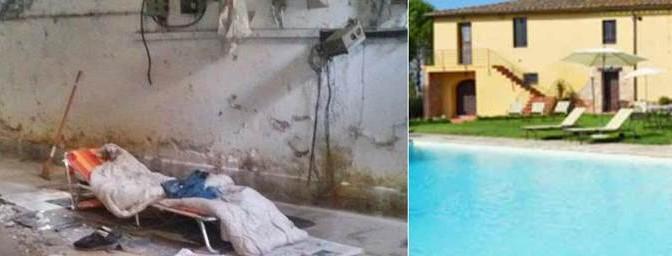 Marco muore di freddo: profughi in resort di lusso, lui in cantina