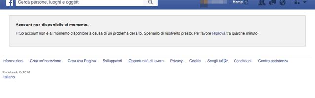 Facebook Down: problemi di accesso per gli utenti