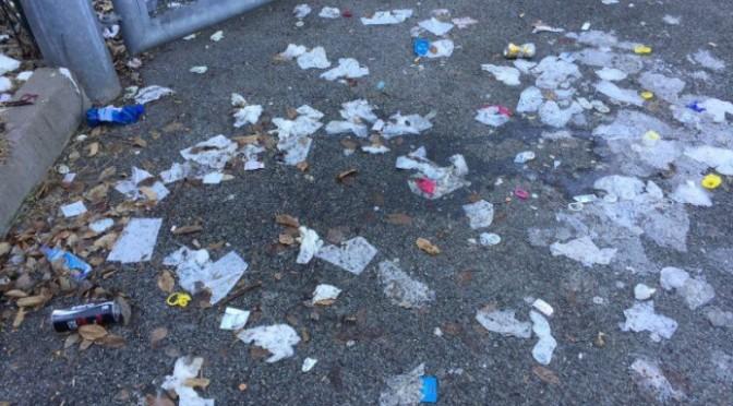 Degrado a Bolzano: la piazzola dei preservativi