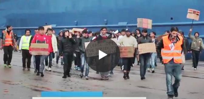 La furia dei clandestini islamici nel porto di Atene: esercito di 4.000 uomini – VIDEO