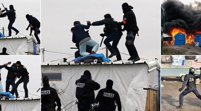 E' GUERRIGLIA ETNICA A CALAIS: SCONTRI ISLAMICI – POLIZIA – VIDEO