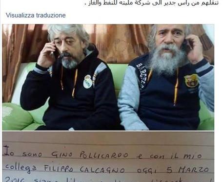 Liberi 2 dei 4 italiani rapiti in Libia, 2 morti ieri