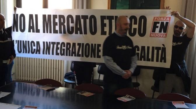 """FN 'occupa' Comune di Pescara: """"Devono sgomberare abusivi"""""""