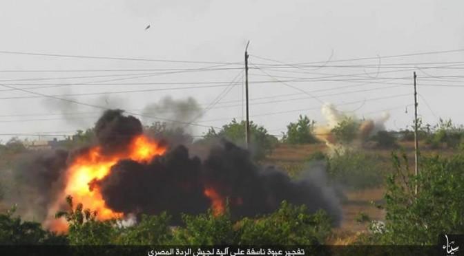 Ringalluzziti da bombardamenti: 8 terroristi ISIS si fanno esplodere in Sinai