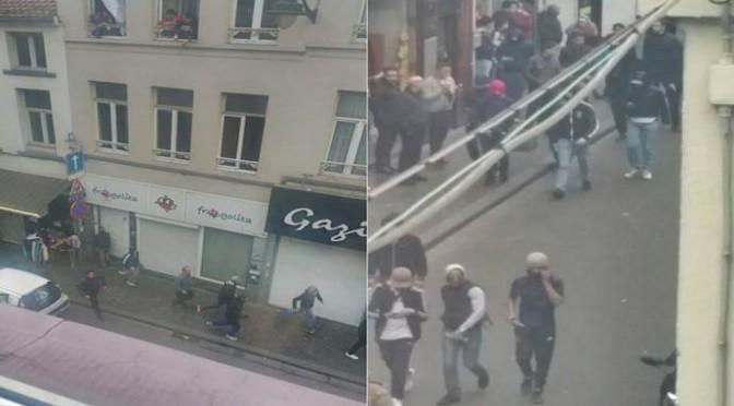 Molenbeek: giovani islamici a caccia di Belgi, incitati da residenti – FOTO
