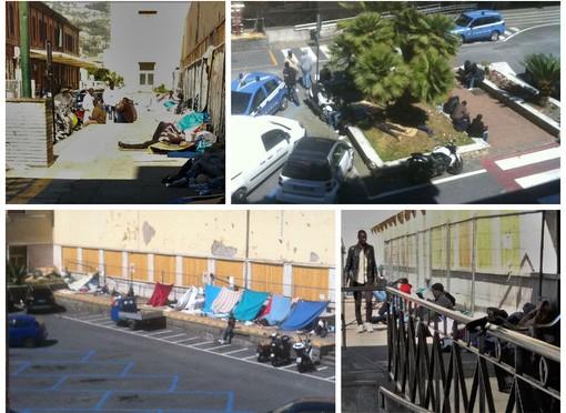 Stazione Ventimiglia è accampamento di clandestini – FOTO