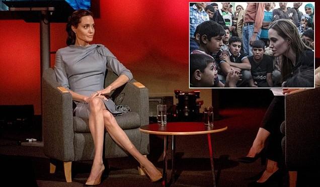 Angelina Jolie invita l'Europa ad accogliere più immigrati
