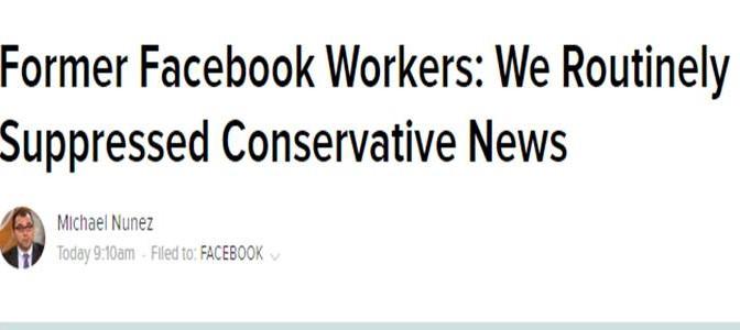 """Ex dipendenti denunciano: """"Facebook censura notizie siti non di sinistra"""""""