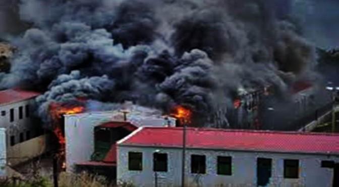 Nigeriani in rivolta incendiano CPR per non farsi espellere
