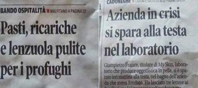 Vite parallele: italiani disperati e migranti coccolati