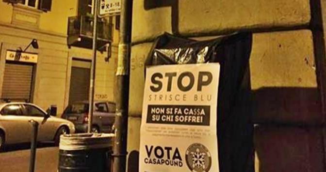 Torino: protesta contro i parcheggiatori abusivi di Fassino