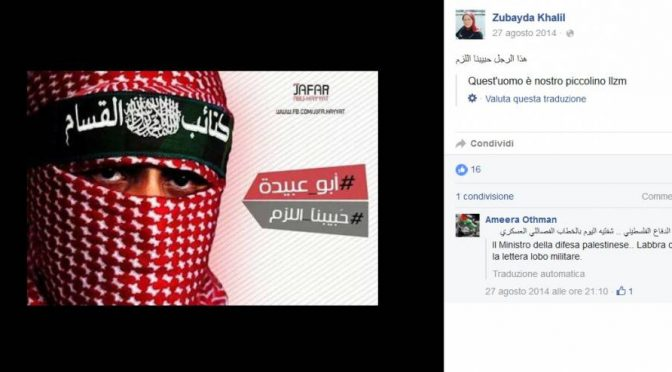Candidata islamica del PD celebra i terroristi islamici