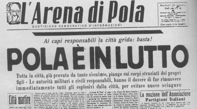 LA STRAGE DEGLI ITALIANI: DA POLA A LAMPEDUSA
