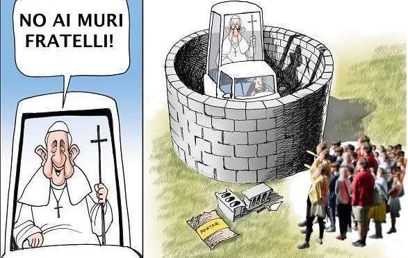 """BERGOGLIO CONTRO TRUMP: """"IO MI OCCUPO SOLO DI MIGRANTI"""""""