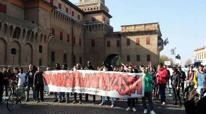 Ferrara: centri sociali manifestano contro i Resistenti di Gorino