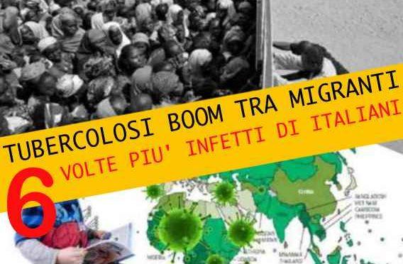 TUBERCOLOSI: E' BOOM TRA IMMIGRATI, 6 VOLTE PIU' INFETTI DI ITALIANI