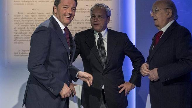 Mentana riesuma De Mita per fare un favore a Renzi