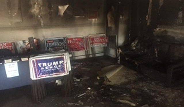USA: UFFICIO TRUMP DATO ALLE FIAMME DA DEMOCRATICI – FOTO