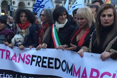 Torino: Sindachessa marcia con i Trans