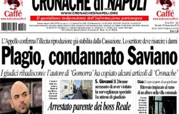 "Saviano: ""Ci vogliono sindaci Africani"""