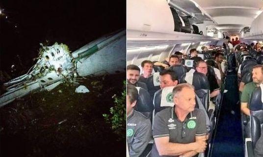 Si schianta aereo squadra di calcio Chapecoense: 77 morti, 4 sopravvissuti