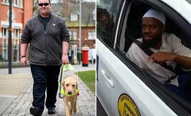 """Tassista islamico rifiuta cieco per il """"cane guida impuro"""" – VIDEO"""