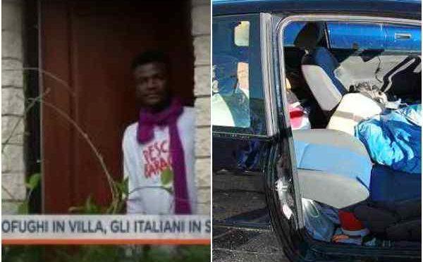 Governo ladro: profughi in villa di lusso, Italiano in auto – VIDEO